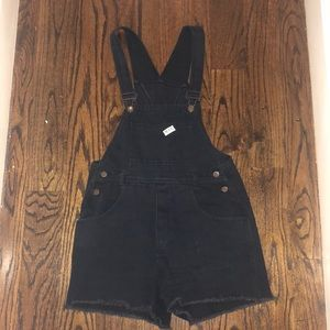 Black short overalls